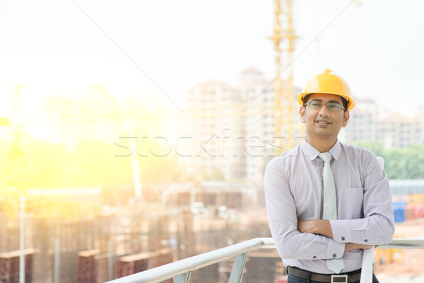 Asian male site contractor engineer  Stock photo © szefei