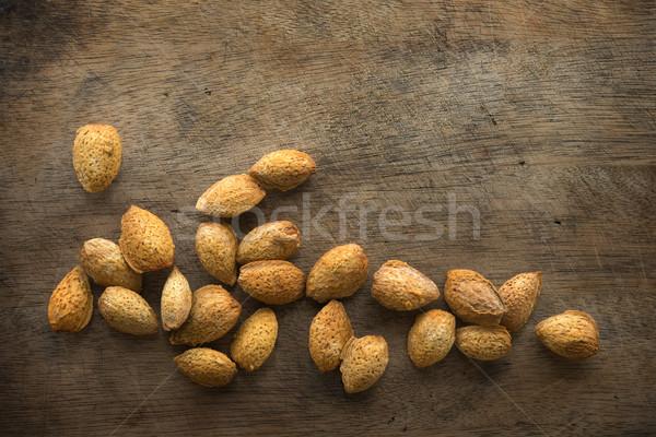 Almond shell nuts Stock photo © szefei
