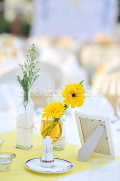 Wedding table setting Stock photo © szefei