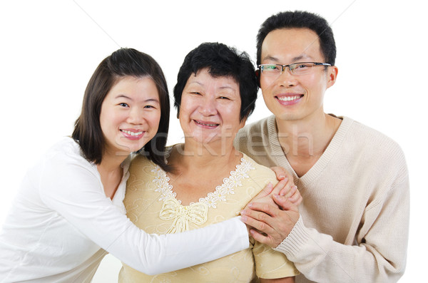 Asian family Stock photo © szefei