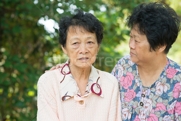 Asian senior women lifestyle Stock photo © szefei