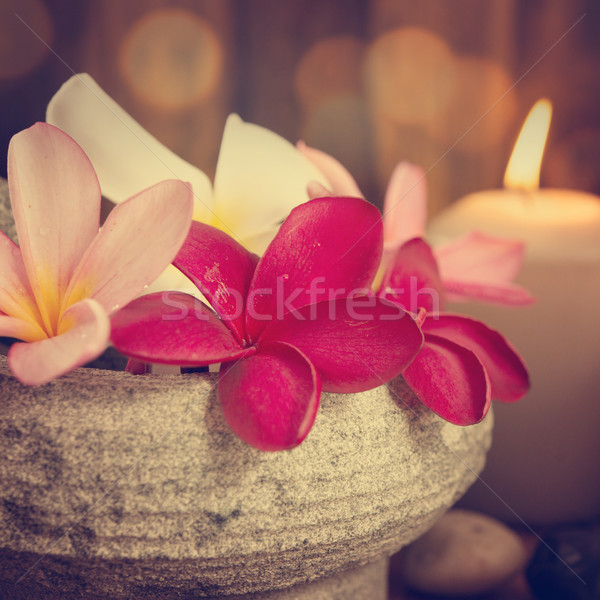 Spa still life setting with aromatic candles Stock photo © szefei