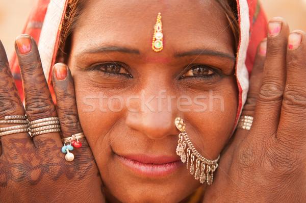 Traditional Indian girl portrait Stock photo © szefei