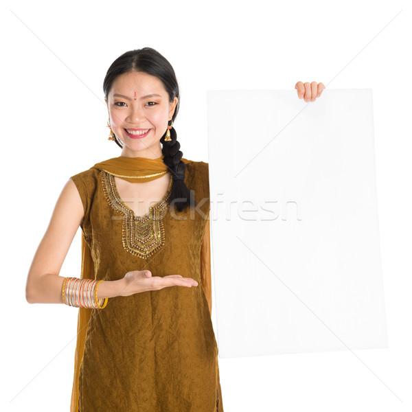 Femminile bianco carta carta ritratto Foto d'archivio © szefei