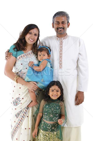 Traditional Indian family Stock photo © szefei