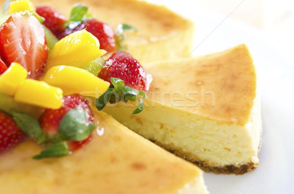 情熱 フルーツ チーズケーキ 自家製 ホーム ストックフォト © szefei