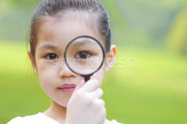 Magnifying glass Stock photo © szefei