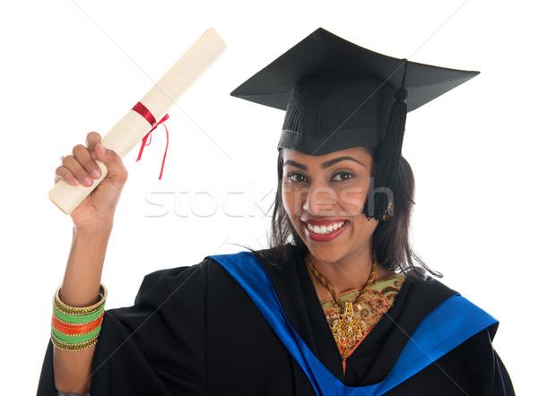 Indio graduación feliz adulto estudiante Foto stock © szefei