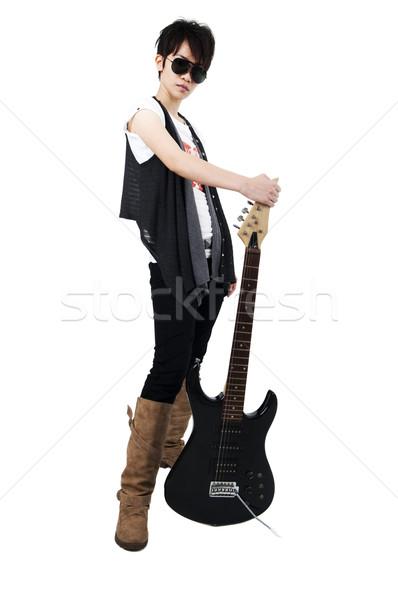 панк гитаре изолированный белый Сток-фото © szefei