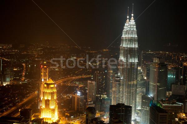 üst görmek Kuala Lumpur gece Stok fotoğraf © szefei