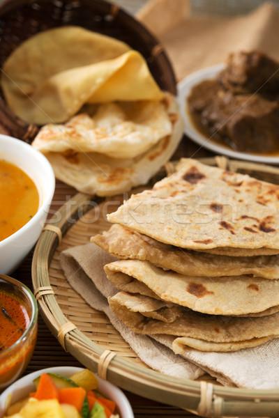 Chapati or Flat bread Stock photo © szefei