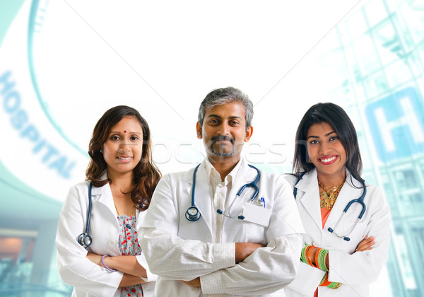 Indian medici squadra medici gruppo maschio Foto d'archivio © szefei