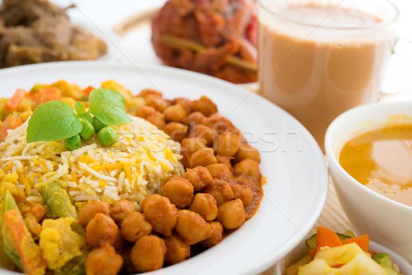 Rizs friss főtt basmati fűszer finom Stock fotó © szefei