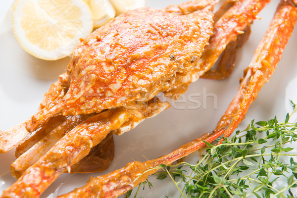 Hot gekruid chili krab Stockfoto © szefei