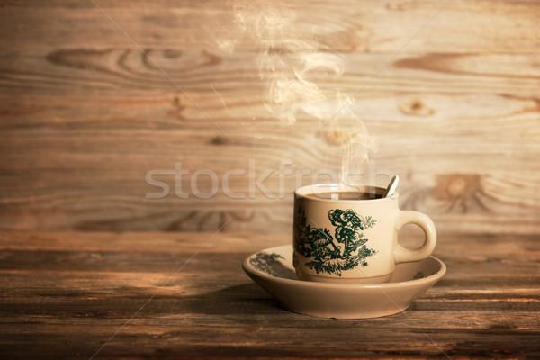 Tradicional chino café vintage taza platillo Foto stock © szefei