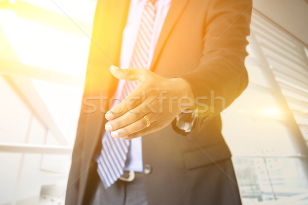 Business people hand offering handshake Stock photo © szefei