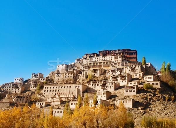 India kolostor buddhista természet tájkép hegy Stock fotó © szefei