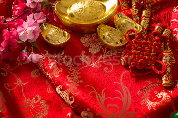 Stock photo: Chinese new year decorations background