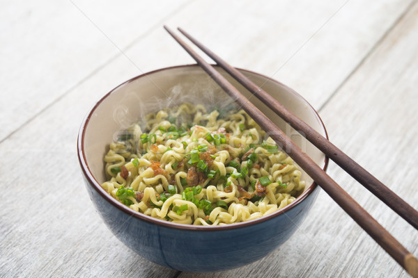 Asian dried ramen noodles bowl Stock photo © szefei