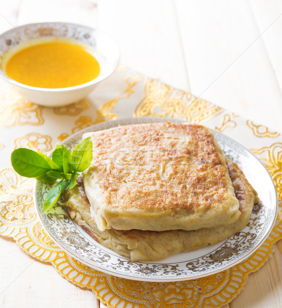 Közel-Kelet töltött kenyér népszerű ebéd arab Stock fotó © szefei