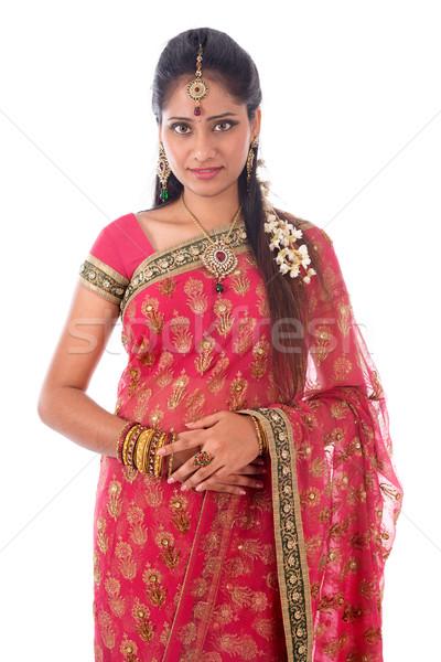 Indian woman portait Stock photo © szefei