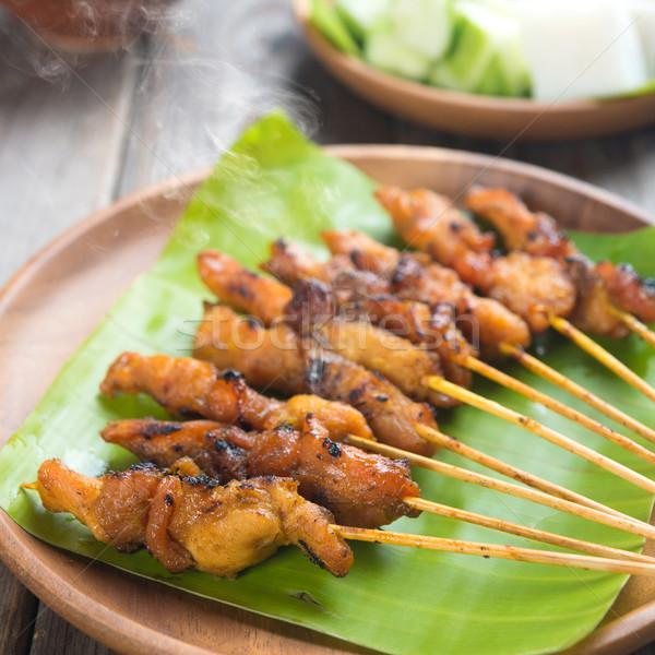 Chicken sate Stock photo © szefei