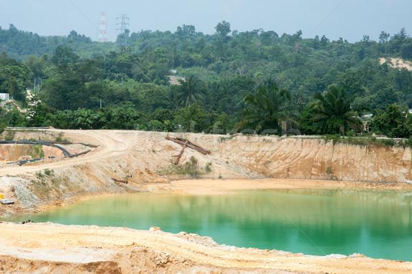 Maleisië zand water bouw fabriek meer Stockfoto © szefei