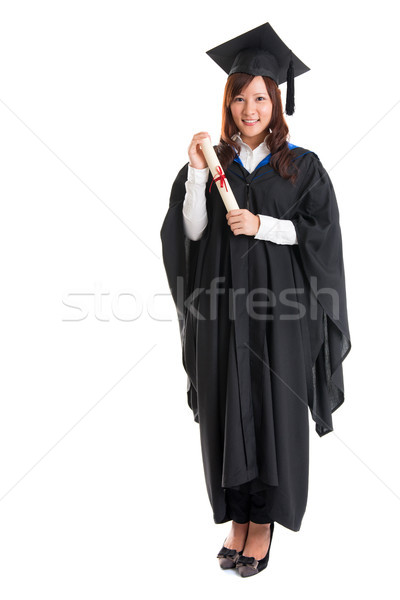 Full body Asian female student Stock photo © szefei