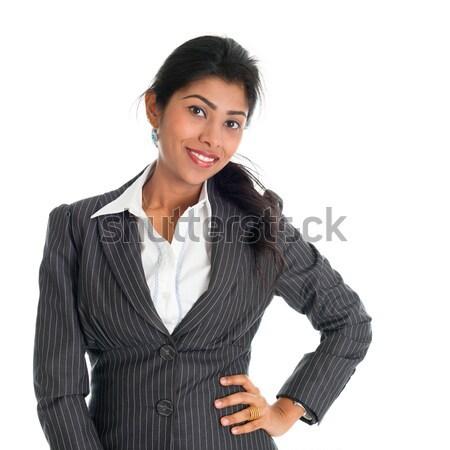 Africano americano empresária negócio terno retrato belo Foto stock © szefei
