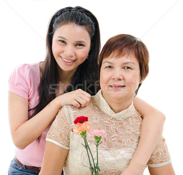 Mother and daughter in mother day Stock photo © szefei