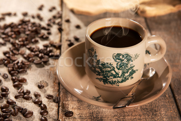 Traditional style Chinese coffee in vintage mug Stock photo © szefei