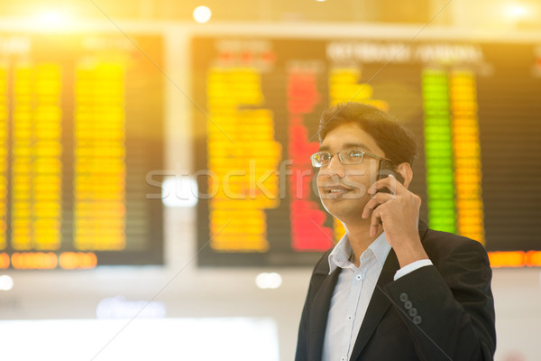 Indian Business man on his business travel Stock photo © szefei
