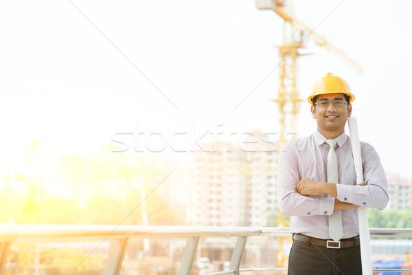 Asian male site contractor engineer portrait Stock photo © szefei