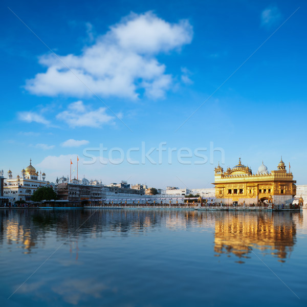 Golden Temple India blue sky Stock photo © szefei