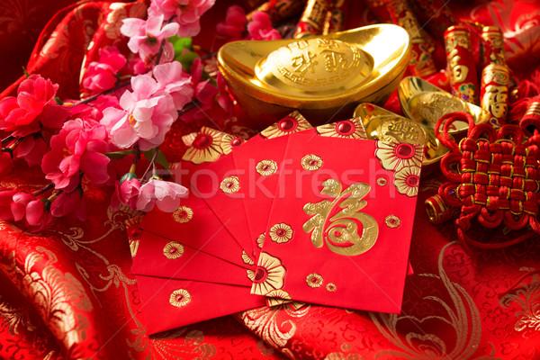Chinese new year festival decorations Stock photo © szefei