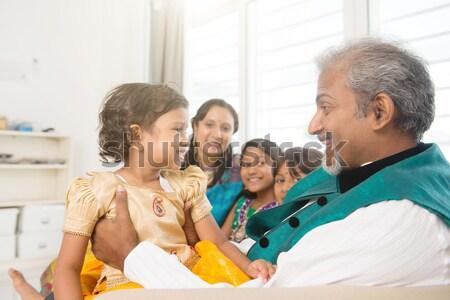 Family money saving concept Stock photo © szefei