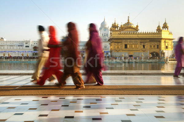 Sikh pilgrims Stock photo © szefei