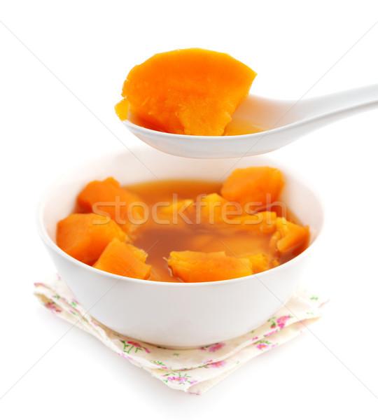 çanak tatlı patates çorba Asya stil tatlı Stok fotoğraf © szefei