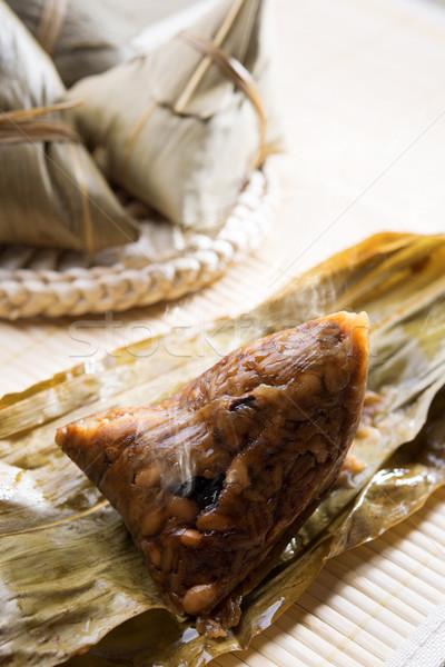 Chinese rijst knoedel hot gestoomd traditioneel Stockfoto © szefei