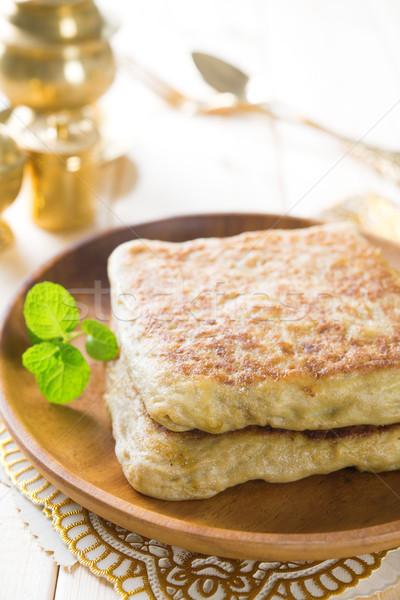 Töltött palacsinta kenyér Szaúd-Arábia Jemen India Stock fotó © szefei