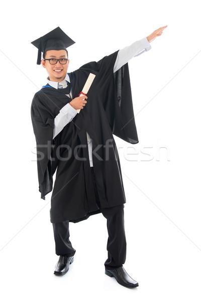 Asian college student grad Stock photo © szefei