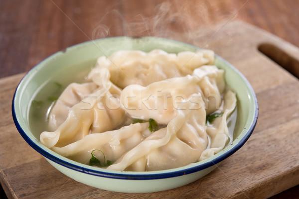 Asian dish dumplings soup  Stock photo © szefei