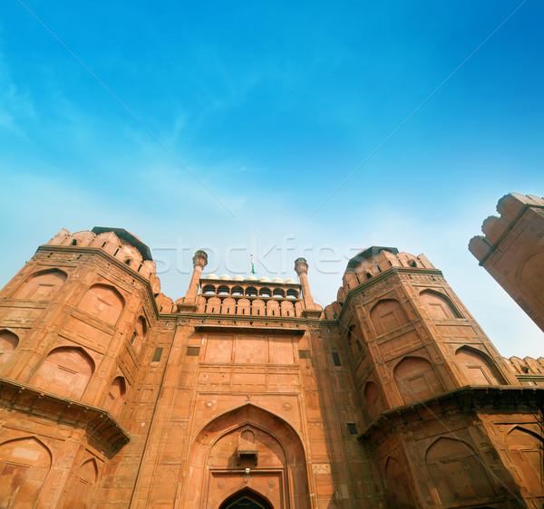 Dettagli rosso fort dettaglio architettonico Delhi India Foto d'archivio © szefei