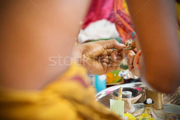 Traditional Indian Hindus praying ceremony.  Stock photo © szefei