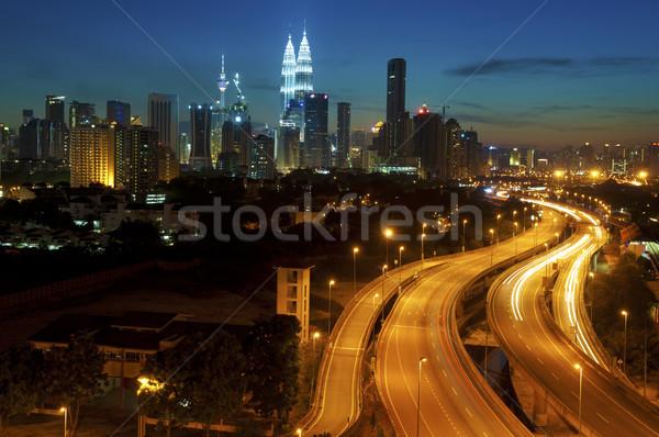 Kuala Lumpur şehir gün batımı Malezya tan Stok fotoğraf © szefei