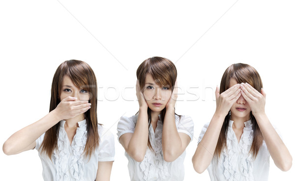 See, hear, speak no evil Stock photo © szefei