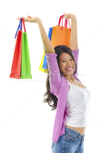 Happy shopper Stock photo © szefei