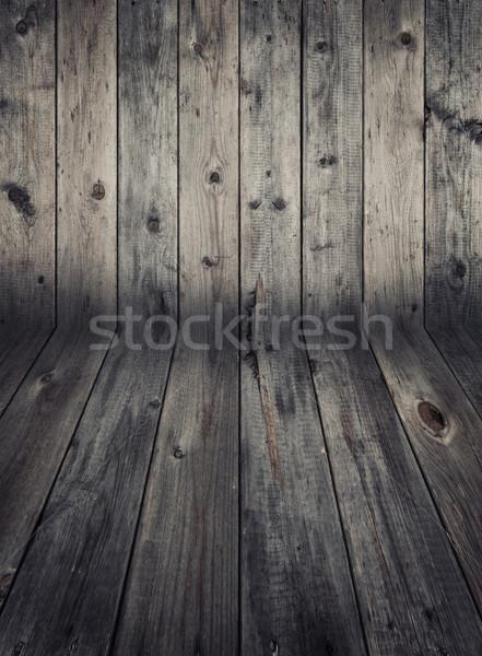 Wooden wall and flooring.  Stock photo © szefei