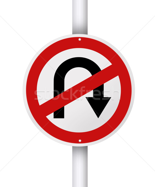 No u turn. Stock photo © szefei