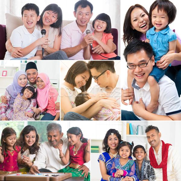 Collage photo of family  Stock photo © szefei